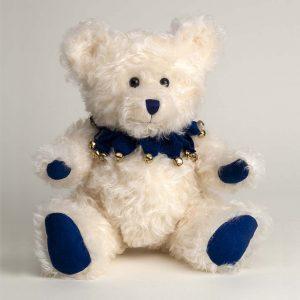 Blueberry White Fluffy Bear