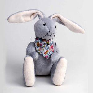 Grey Rabbit with Bandana