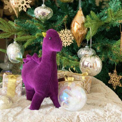 Dinosaur by the Christmas Tree