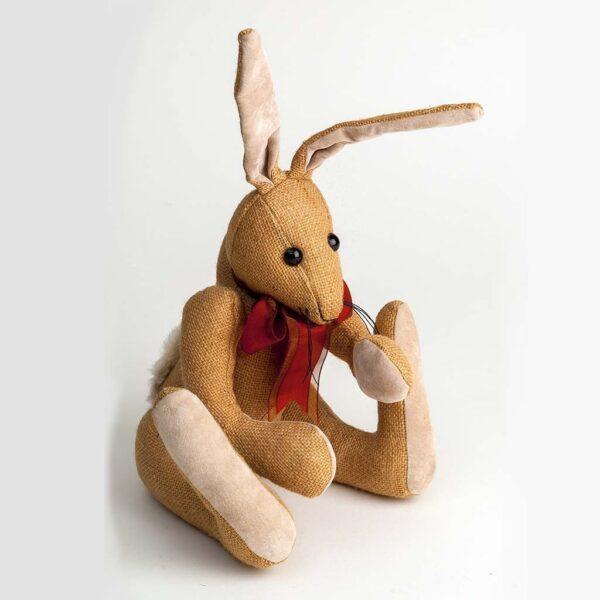 Hessian Rabbit Toy