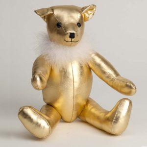 Gold Lame Bear