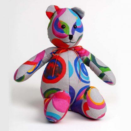 Twirly Fabric Bear in Shop